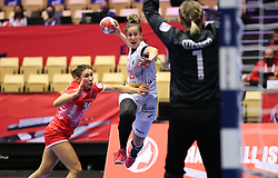 HERNING, DENMARK - DECEMBER 3, 2020: Nerea Pena during the EHF Euro 2020 Group C match between Russia and Spain in Jyske Bank Boxen, Herning, Denmark on December 3 2020. Photo Credit: Allan Jensen/EVENTMEDIA.