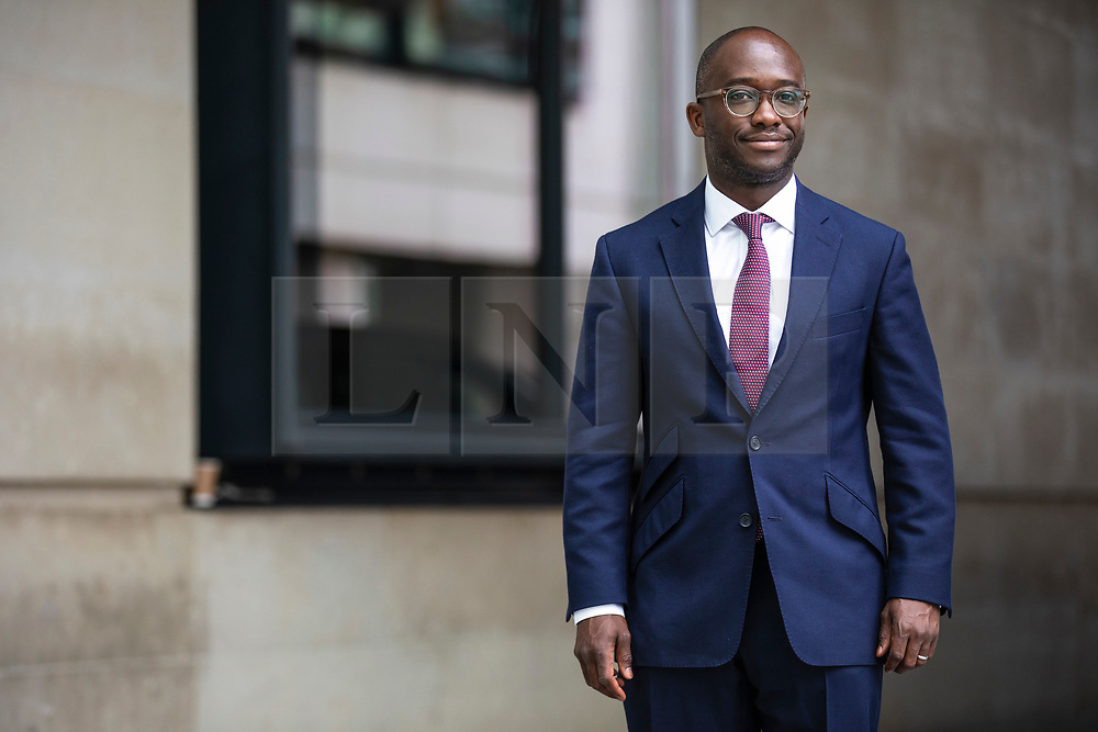 © Licensed to London News Pictures. 02/06/2019. London, UK. Conservative MP Sam Gymiah, who has announced that he will run to be Leader of the Conservative party, arrives at BBC Broadcasting House. Photo credit: Rob Pinney/LNP