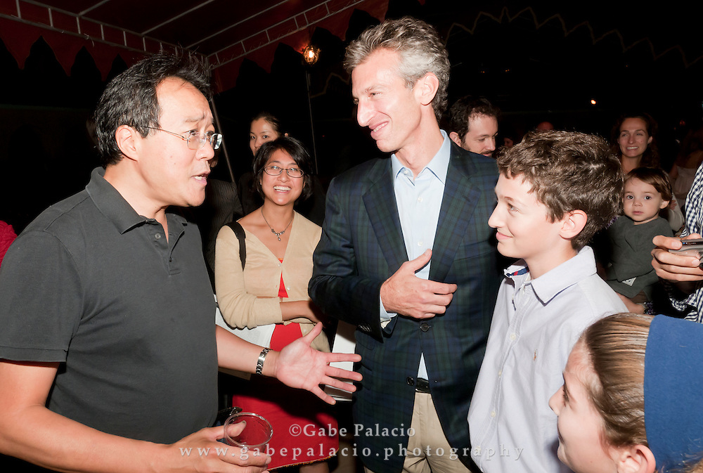 A reception in the Spanish Courtyard following the Yo-Yo Ma and the Knights performance during the Fall Festival at Caramoor in Katonah New York on Sept 26, 2010..(photo by Gabe Palacio)