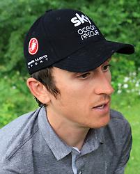 Team Sky's Geraint Thomas during the Team Sky Media Event in Saint-Mars-la-Reorthe, France.
