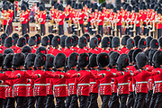 Colonel's Review 2018, the last formal inspection of the Household Division before The Queen's Birthday Parade, more popularly known as Trooping the Colour. The Coldstream Guards Troop Their Colour and their Regimental Colonel, Lieutenant General Sir James Jeffrey Corfield Bucknall, takes the salute.
