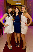 Sinead Kirrane, Laura Haverty Knocknacarra and Aine Casserly Claregalway, at the Take Me Out for Cancer Care West in the Sathill Hotel, Galway . Photo:Andrew Downes.