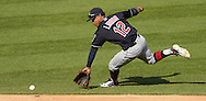 CHICAGO - MAY 23:  Francisco Lindor #12 of the Cleveland Indians fields against the Chicago White Sox during game one of a double header on May 23, 2016 at U.S. Cellular Field in Chicago, Illinois.  The White Sox defeated the Indians 7-6.  (Photo by Ron Vesely)   Subject:   Francisco Lindor