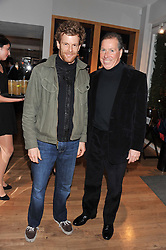 Left to right, TOM AIKENS and VISCOUNT LINLEY at the Linley Christmas party at Linley, 60 Pimlico Road, London on 20th November 2012.