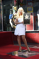 11/15/2010 Christine Aguilera at her Hollywood Walk of Fame ceremony