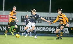 Falkirk's Will Vaulks and Alloa Athletic's Mikk Reintam. <br /> Falkirk 5 v 0 Alloa Athletic, Scottish Championship game played at The Falkirk Stadium.