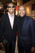 27 January 2011-New York , NY- l to r: b.Michaels and Gary Lamply at ' For the Love of Color ' celebrating the vision of Eunice Johnson and the Ebony Fashion, Fair Cosemetics sponsored by Macy's and held at Macy's Herald Square on January 27, 2011 in New York City. Photo Credit: Terrence Jennings