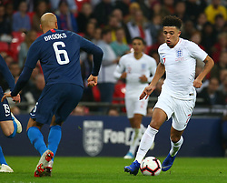 November 15, 2018 - London, United Kingdom - England's Jadon Sancho in Action .during the friendly soccer match between England and USA at the Wembley Stadium in London, England, on 15 November 2018. (Credit Image: © Action Foto Sport/NurPhoto via ZUMA Press)