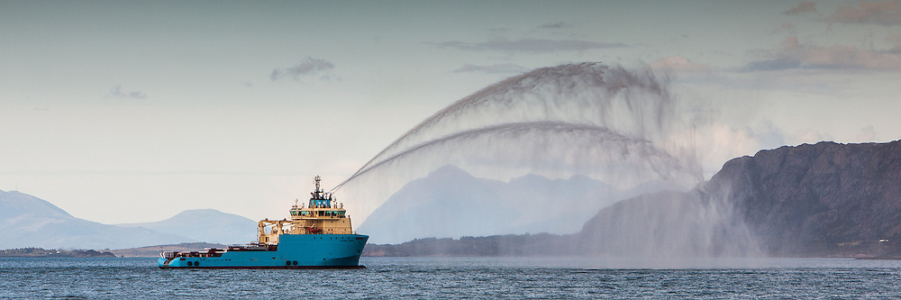Maersk båt utfører FiFi testing