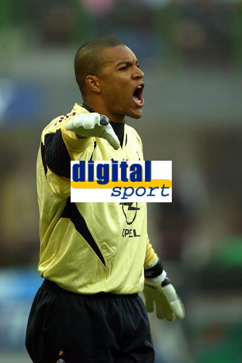 Fotball<br /> Serie A Italia 2004/2005<br /> Foto: Graffiti/Digitalsport<br /> NORWAY ONLY<br /> <br /> Mialno 6/1/2005<br /> <br /> Milan Lecce 5-2 <br /> Ac Milan brazilian goalkeeper Nelson Dida