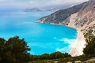 The most beautiful and famous beach in Ionian sea