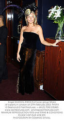 Singer SHARON AMOS from pop group Masai at a party in London on 27th February 2003.PHM 8