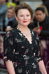 © Licensed to London News Pictures. 11/04/2016. Monica Dolan arrives for the European film premiere of Eye In The Sky. London, UK. Photo credit: LNP