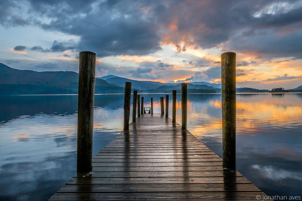 Derwentwater Sunset, Lake District, Cumbria, UK