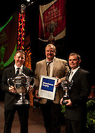 Nick Pepper, Craig Jackson and Matt Pepper from Waipapa 9 trust with the trophies at the 2010 Ahuwhenua Trophy  Bank of New Zealand Maori Excellence in Farming competition awards dinner held at the Taupo Event Centre, Taupo. Friday 28 May 2010.<br /> <br /> ***FREE FOR EDITORIAL USE***<br /> <br /> PHOTO COURTESY: ahuwhenuatrophy.co.nz