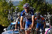France, October 10 2010: KATUSHA TEAM (KAT) rider on the Côte de l'Epan during the 2010 Paris Tours cycle race.  Copyright 2010 Peter Horrell