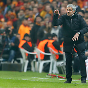 Chelsea's coach Jose Mourinho during their UEFA Champions League Round of 16 First leg soccer match Galatasaray between Chelsea at the AliSamiYen Spor Kompleksi in Istanbul, Turkey on Wednesday 26 February 2014. Photo by Aykut AKICI/TURKPIX