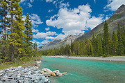 Vermillion River and the Canadian Rocky Mountains, Kootenay National Park, British Columbia, Canada