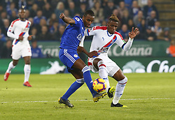 February 23, 2019 - Leicester, England, United Kingdom - L-R Leicester City's Ricardo Pereira and Crystal Palace's Michy Batshuay.during English Premier League between Leicester City and Crystal Palace at King Power stadium , Leicester, England on 23 Feb 2019. (Credit Image: © Action Foto Sport/NurPhoto via ZUMA Press)