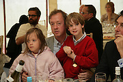 GEORDIE GREIG WITH HIS CHILDREN MONICA AND JASPER, Cartier Style et Luxe lunch. Goodwood.  24 June 2007.  -DO NOT ARCHIVE-© Copyright Photograph by Dafydd Jones. 248 Clapham Rd. London SW9 0PZ. Tel 0207 820 0771. www.dafjones.com.