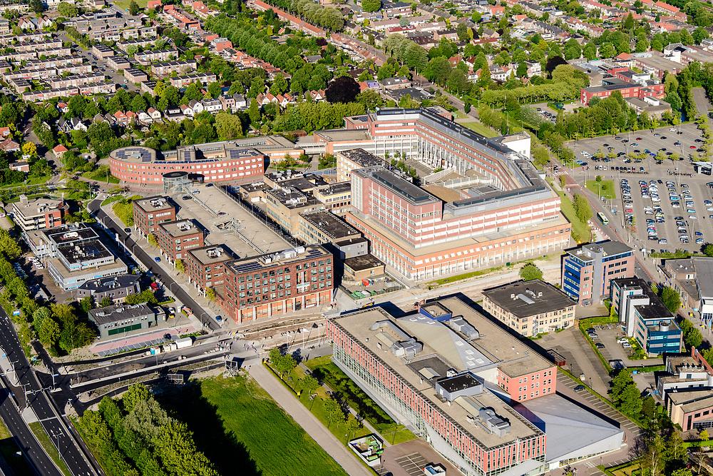 Nederland, Noord-Holland, Hoorn, 13-06-2017; Het Westfriesgasthuis, algemeen ziekenhuis.<br /> General hospital.<br /> <br /> luchtfoto (toeslag op standard tarieven);<br /> aerial photo (additional fee required);<br /> copyright foto/photo Siebe Swart