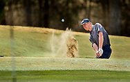De Smet's Drew Holman hits from a green side bunker on the 18th hole during the SLUH Bantle Memorial Golf Tournament on Thursday, March 28, 2019, at Missouri Bluffs Golf Club in St. Charles County, Mo.  Gordon Radford   Special to STLhighschoolsports.com