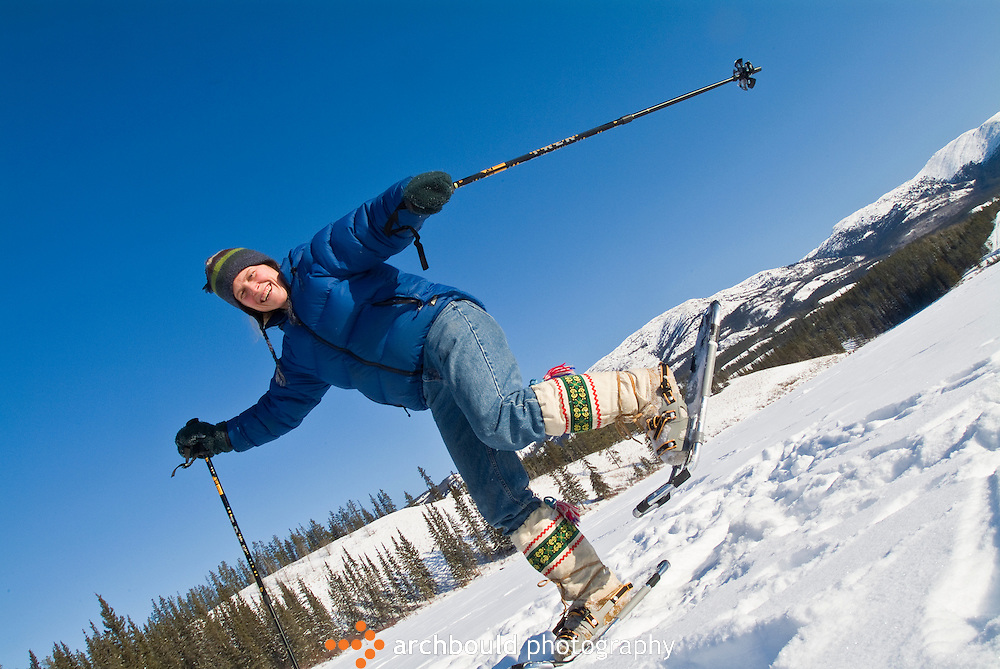 Snowshoeing around Whitehorse, Yukon.<br /> <br /> NOT IN YOUR BUDGET? Contact Cathie for a price specific to your project.