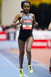 New Balance Indoor Grand Prix track meet: Women's 2 Mile, Tirunesh Dibaba, ETH wins
