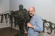 Laurence Edwards launches his sculpture exhibition at Mary Place Gallery, Sydney. A varied selection of bronzed figures-part of the Landscape, Evolution and Exploration. Lawrence Edwards [Sculpture] with his work.