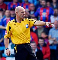 Photo: Alan Crowhurst.<br />Crystal Palace v Charlton Athletic. Coca Cola Championship. 01/09/2007. Referee Mr N Miller.
