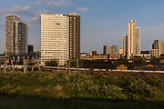 Stratford skyline during the coronavirus pandemic on the 7th May 2020 in London, United Kingdom.