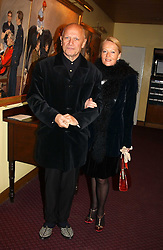 CLARA FISCHER and actor STEVEN BERKOFF at a reception to support The Hyde Park Appeal held in the Officers Mess, Household Cavalry Mounted Regiment, Hype Park Barracks, Knightsbridge, London SW1 on 30th November 2004.<br /><br />NON EXCLUSIVE - WORLD RIGHTS