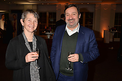 Frances Morris and Gregor Muir at the Debrett's 500 Party recognising Britain's 500 most influential people, held at BAFTA, 195 Piccadilly, London England. 23 January 2017.