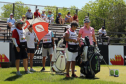 May 25, 2018 - Surrey, Michigan, United Kingdom - Celine Herbin of France waits on the first hole during the second round of the LPGA Volvik Championship at Travis Pointe Country Club, Ann Arbor, MI, USA Friday, May 25, 2018. (Credit Image: © Jorge Lemus/NurPhoto via ZUMA Press)