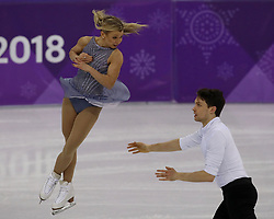 February 15, 2018 - Pyeongchang, KOREA - Kirsten Moore-Towers and Michael Marinaro of Canada compete in pairs free skating during the Pyeongchang 2018 Olympic Winter Games at Gangneung Ice Arena. (Credit Image: © David McIntyre via ZUMA Wire)