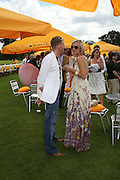 Jenny Falconer and James Midgley, The Veuve Clicquot Gold Cup 2007. Cowdray Park, Midhurst. 22 July 2007.  -DO NOT ARCHIVE-© Copyright Photograph by Dafydd Jones. 248 Clapham Rd. London SW9 0PZ. Tel 0207 820 0771. www.dafjones.com.