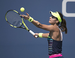 August 31, 2017 - Flushing Meadows, New York, U.S - Sorana Cirstea during her match on Day Four of the 2017 US Open with Jelena Ostapenko at the USTA Billie Jean King National Tennis Center on Thursday August 31, 2017 in the Flushing neighborhood of the Queens borough of New York City. Ostapenko defeats Cirstea, 6-4, 6-4. (Credit Image: © Prensa Internacional via ZUMA Wire)