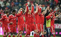 Fotball<br /> Tyskland<br /> 13.03.2010<br /> Foto: Witters/Digitalsport<br /> NORWAY ONLY<br /> <br /> Schlussjubel Bayern mit Torschuetze Arjen Robben<br /> <br /> Bundesliga FC Bayern München - SC Freiburg