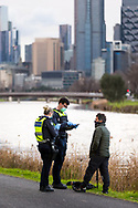 A photographer is fined by police for leaving his home for an unlawful reason during COVID-19 in Melbourne, Australia. Hotel quarantine linked to 99% of Victoria's COVID-19 cases, inquiry told. This comes amid a further 222 new cases being discovered along with 17 deaths. Melbourne continues to reel under Stage 4 restrictions with speculation that it will be extended. (Photo by Dave Hewison/Speed Media)