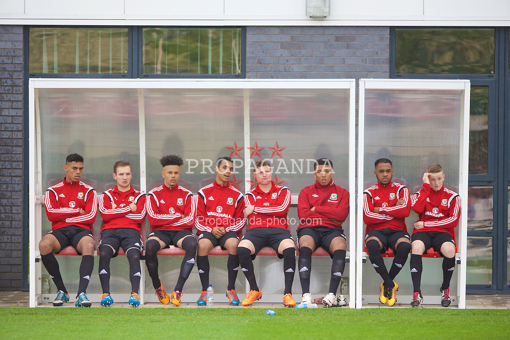NEWPORT, WALES - Saturday, May 21, 2016: Players during the Football Association of Wales' National Coaches Conference 2016 at Dragon Park FAW National Development Centre. (Pic by David Rawcliffe/Propaganda)