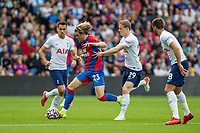 Football - 2021/2022  Premier League - Crystal Palace vs Tottenham Hotspur - Selhurst Park  - Saturday 11th September 2021.<br /> <br /> Conor Gallagher (Crystal Palace) tries to break away from Oliver Skipp (Tottenham Hotspur) at Selhurst Park.<br /> <br /> COLORSPORT/DANIEL BEARHAM