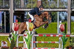 Vrieling Jur, NED, Kallmar VDL<br /> Nationaal Kampioenschap KWPN<br /> 5 jarigen springen round 2<br /> Stal Tops - Valkenswaard 2020<br /> © Hippo Foto - Dirk Caremans<br /> 18/08/2020