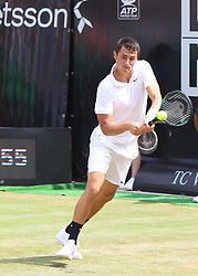11.06.2015, Tennis Club Weissenhof, Stuttgart, GER, ATP Tour, Mercedes Cup Stuttgart, im Bild Bernard Tomic ( AUS ) // during the Mercedes Cup of ATP world Tour at the Tennis Club Weissenhof in Stuttgart, Germany on 2015/06/11. EXPA Pictures © 2015, PhotoCredit: EXPA/ Eibner-Pressefoto/ Langer<br /> <br /> *****ATTENTION - OUT of GER*****
