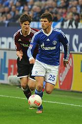 27-10-2012 VOETBAL:SCHALKE 04 - FC NURNBERG: GELSENKIRCHEN<br /> Klaas Jan Huntelaar <br /> ***NETHERLANDS ONLY***<br /> ©2012-FotoHoogendoorn.nl
