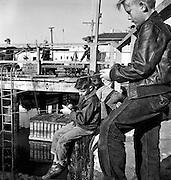 Young fishermen at Fisherman's Wharf, San Francisco