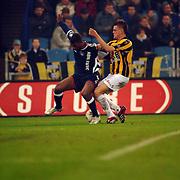 NLD/Arnhem/20051211 - Voetbal, Vitesse - Ajax, Ryan Babel en Theo Janssen