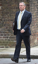 Downing Street, London, September 9th 2016.  International Trade Secretary Liam Fox arrives at Downing street for the weekly cabinet meeting following the Parliamentary summer recess.