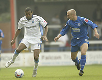 Photo: Aidan Ellis.<br /> Rochdale v Wycombe Wanderers. Coca Cola League 2. 16/09/2006.<br /> Wycombe's Kevin Betsy (L) and Rochdale's Ernie Cooksey