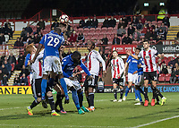 Football - 2016 / 2017 FA Cup - Third Round: Brentford vs. Eastleigh<br /> <br /> Eastleigh pile on the pressure looking for another consolation goal <br /> at Griffin Park.<br /> <br /> COLORSPORT/DANIEL BEARHAM