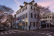 Historic Charleston housing  and architecture during the Christmas festivities, South Carolina, USA. (photo by ChristopherPillitz/In Pictures via Getty Images)